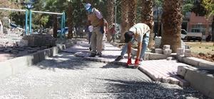 Haliliye'de kilitli parke taşı döşeme çalışmaları sürüyor
