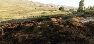 Muradiye'de ot yangını