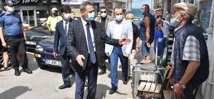 """Vali Karaömeroğlu: """"Mutlu şehir Sinop'umuzu sağlıklı şehir yapmak istiyoruz"""" """"Sağlık İçin Hepimiz İçin"""" mottosu ile Sinop'ta Kovid-19 denetimleri gerçekleştiriliyor"""