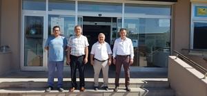 İl Müdürü Sarı ve Mehmet Sayan Ticaret Borsası'nı ziyaret etti