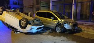 Otomobil takla attı sürücüsü kaçtı