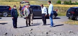 Vali Hüseyin Öner, köylerde yürütülen kilit parke çalışmalarını denetledi