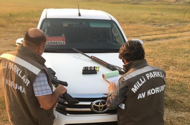 Kaçak Bıldırcın avlayanların silahlarına el konuldu