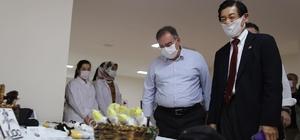 Japon Büyükelçi Akio Kadın Meslek Zenginleştirme Merkezini gezdi