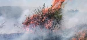 Raylardan sıçradığı iddia edilen kıvılcım yangın çıkardı