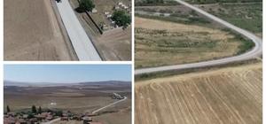 Kırşehir'de, Çiçekdağı- Baraklı-Akbıyık ile Gölcük-Konurkale yol yapım çalışmaları tamamlandı