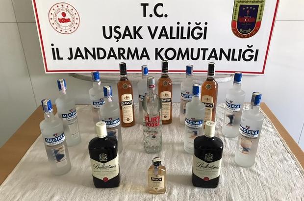 Uşak'ta kaçak alkol operasyonu