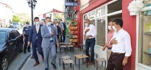 Vali Oktay Çağatay, Mutki'de korona virüs denetimlerine katıldı