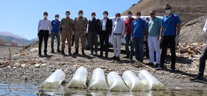 Beyhan Barajı'na 50 bin sazan yavrusu bırakıldı