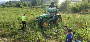 Hatay'da traktör devrildi: 6 yaralı