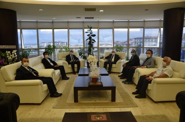 İki üniversite Samsun için tek yürek Rektör Aydın'dan OMÜ Rektörü Prof. Dr. Yavuz Ünal'a hayırlı olsun ziyareti