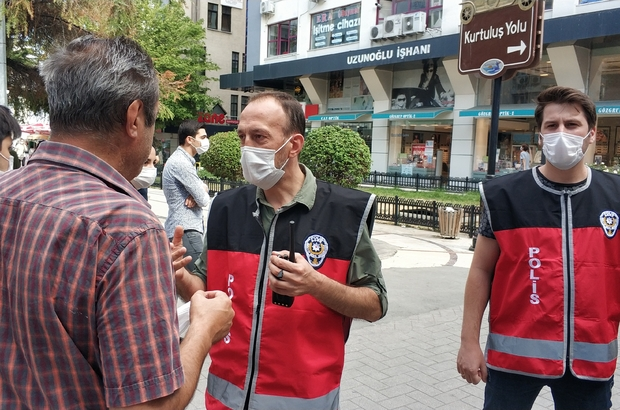 Samsun'da polisin maske uygulaması devam ediyor