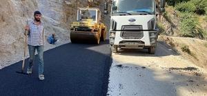 Sason'da grup köy yolunda asfaltlama çalışmaları başlatıldı