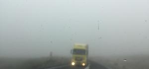 Yoğun sis ulaşımı aksatıyor