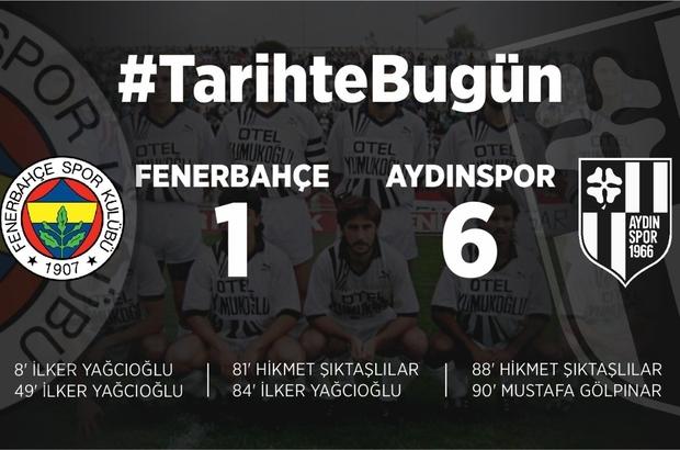 Aydınspor tarihi Fenerbahçe galibiyetini 30'uncu yıl dönümünde andı