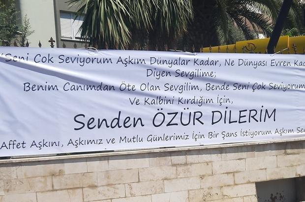 Zabıta Daire Başkanı bu pankartı kaldıramadı