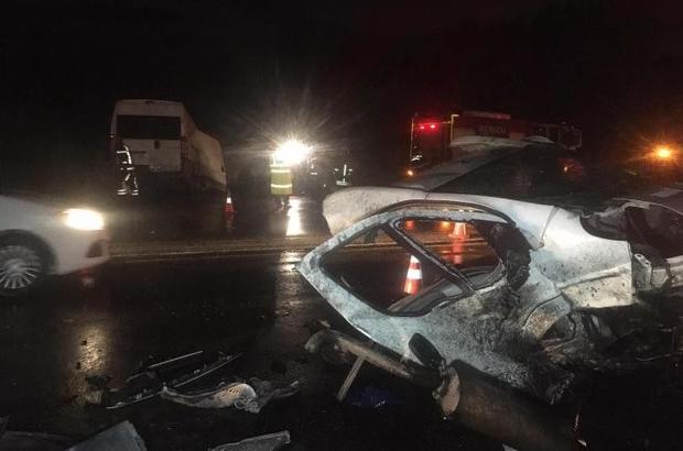 Denizli'de zincirleme trafik kazası: 2 ölü, 3 yaralı - Denizli Haberleri