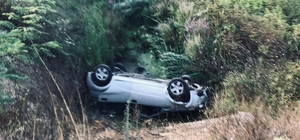 Kontrolden çıkan otomobil dere yatağına uçtu: 2 ağır yaralı