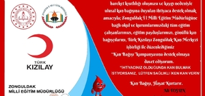 Eğitimciler gönüllü kan bağışlayacak
