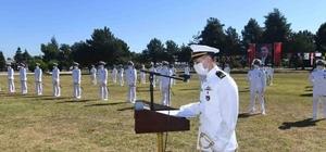 Türk donanmasına taze kan 14 subay ve 20 astsubay törenle orduya katıldı