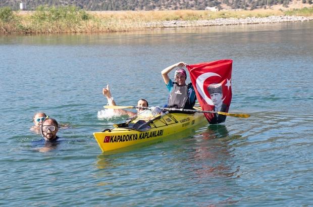 Beyşehir Gölünde 30 Ağustos coşkusu