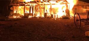 Göle'de çıkan yangında 1 ev küle döndü