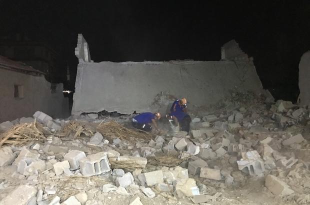 Konya'da boş müstakil ev çöktü