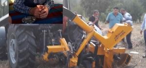 Silaj makinasına kolu sıkıştı, imdadına itfaiye ekibi yetişti