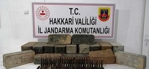 Şemdinli'de uçaksavar mühimmatı ele geçirildi