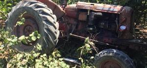 Kontrolden çıkarak takla atan traktör altında kalan sürücü hayatını kaybetti