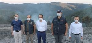 """Çankırı Valisi Ayaz: """"Orman yangını kontrol altına alındı"""" Çankırı'daki orman yangını, havadan ve karadan müdahalelerle kontrol altına alındı"""