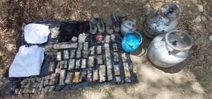 Bingöl'de terör örgütüne ait malzemeler ele geçirildi