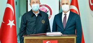 Milli Savunma Bakanı Akar, Isparta'da incelemelerde bulundu