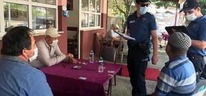 Derebucak'ta polis korona virüs denetimlerini sıklaştırdı