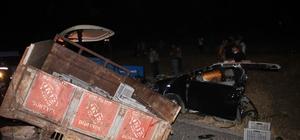 Mardin'de katliam gibi kaza: 6 ölü, 2 yaralı Kazaya karışan araçlardan biri ikiye bölündü