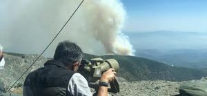Hatay'daki yangını kontrol altına alma çalışmaları sürüyor Bakan Pakdemirli, Radar mevkisinden yangın bölgesini inceledi
