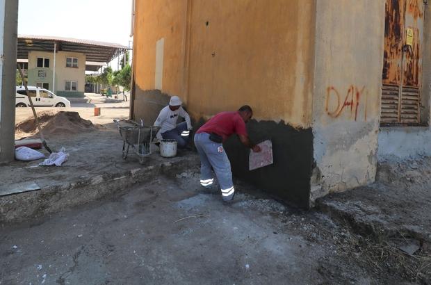 Turgutlu Belediyesi ekiplerinden galericiler sitesinde çalışma