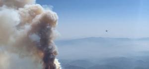 Hatay'daki orman yangını drone ile görüntülendi Ekiplerin 6 saat süren yoğun çalışması sonucunda yangının yerleşim yerlerine ulaşması önlendi