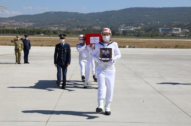 Şehit Tuğgeneral Erdoğan'ın naaşı Çanakkale'ye getirildi