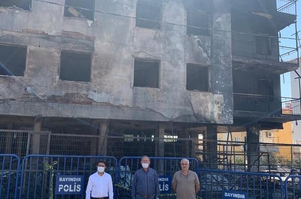 Büyükşehir belediyesinden Bayındır'daki yangınzedelere yardım
