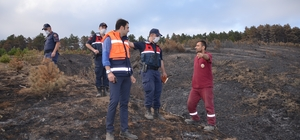Çorum'daki yangının çıkış nedeni araştırılıyor Yangının çıktığı bölgede drone ile keşif yapılacak