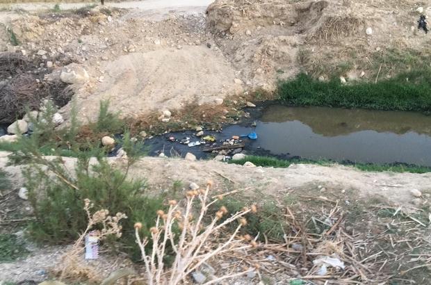 Buldan'da açık kanalizasyon mikrop saçıyor Antik kent Tripolis ve çevresindeki vatandaşlar açık kanalizasyondan şikayetçi