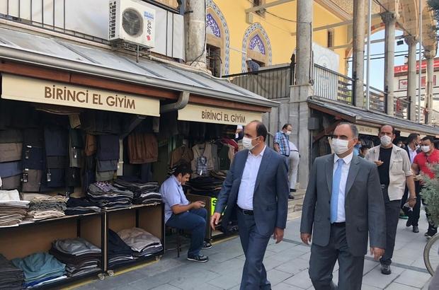 Vali Özkan ve Başkan Altay, esnafa maske, mesafe ve hijyen uyarısı