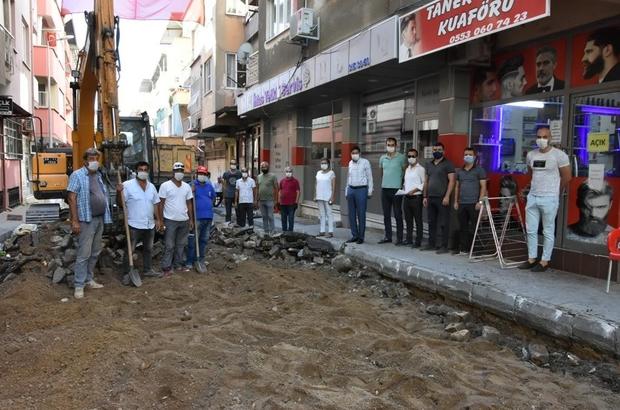 Turan Mahallesi'nde yol yapım çalışmalarına başlandı