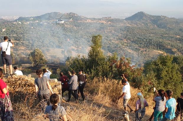 Nazilli'de zirai alanda yangın çıktı