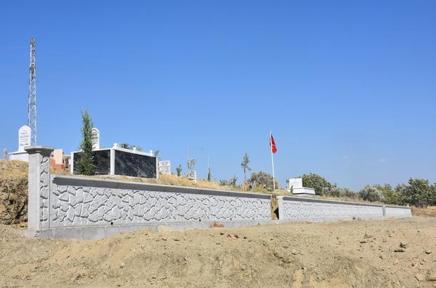 Ortaklar Mezarlığı istinat duvarı çalışması tamamlandı
