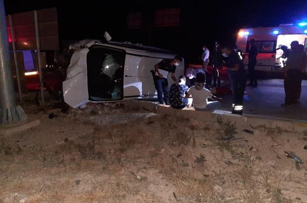 Konya'da otomobille hafif ticari araç çarpıştı: 7 yaralı