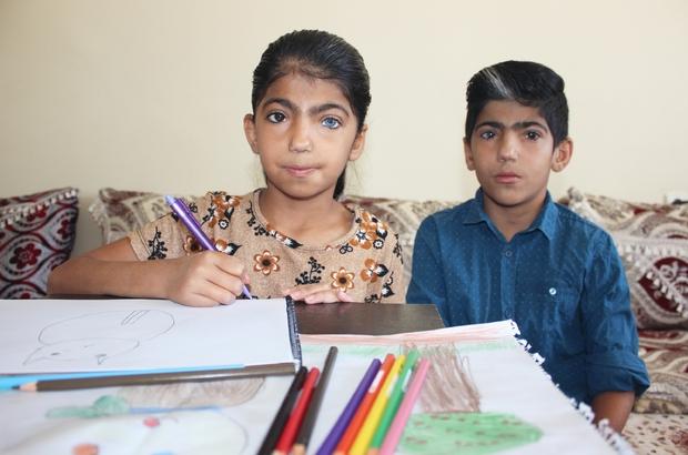 Renkli gözlere sahip Nurcan, hayalleri için çiziyor 'Van kızı' Nurcan göz renkleriyle hayran bırakıyor