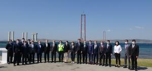 Bakan Karaismailoğlu, 318 metre yüksekten 1915 Çanakkale Köprüsünü inceledi