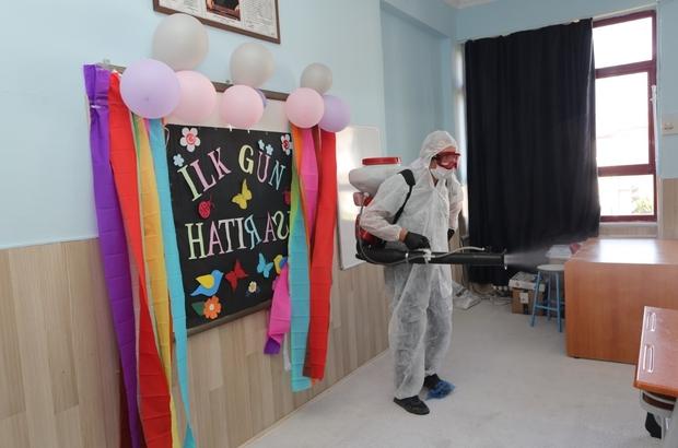 Nevşehir'de okullar dezenfekte edildi
